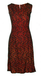 Beyond Retro black and orange lace dress