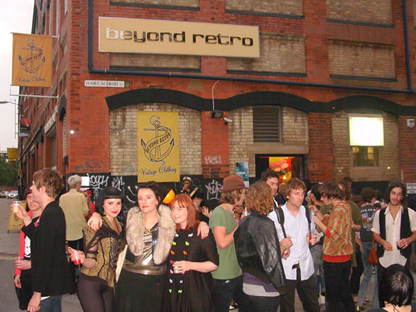 Crowd outside Beyond Retro