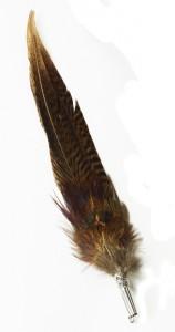 Feather pins from Devon