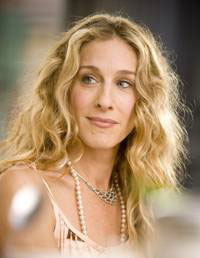 Sarah Jessica Parker with pearls
