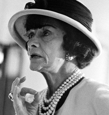 coco chanel with pearls