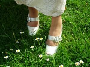 1960s silver heels