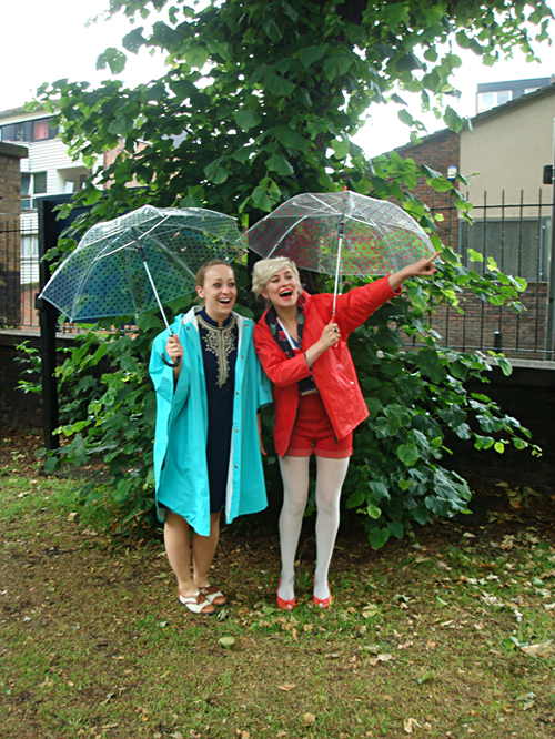clear poke-a-dot umbrellas