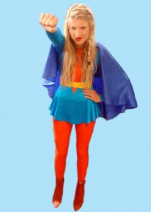 Emma is Super Woman! All clothes Beyond Retro!