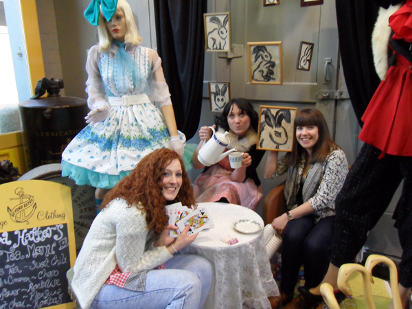 Tea Party in Beyond Retro, Brighton