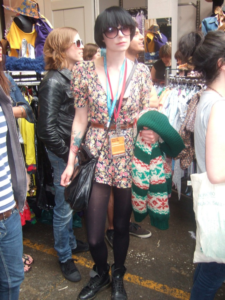 Hannah enjoying the bands at the Great Excase Beyond Retro Brighton