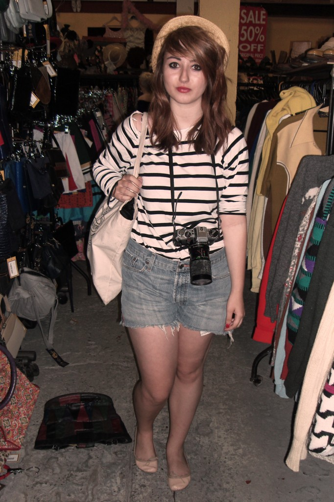 Orla in Beyond Retro's Cheshire Street store
