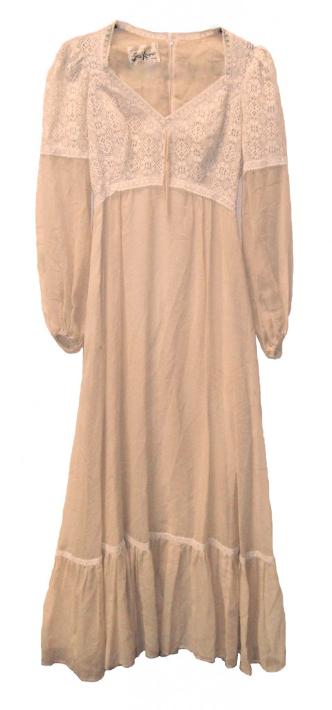 Experience the 'new nude' with this glamorous maxi dress