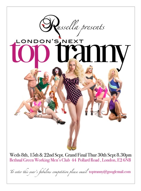 Look out Tyra here comes London's Next Top Tranny