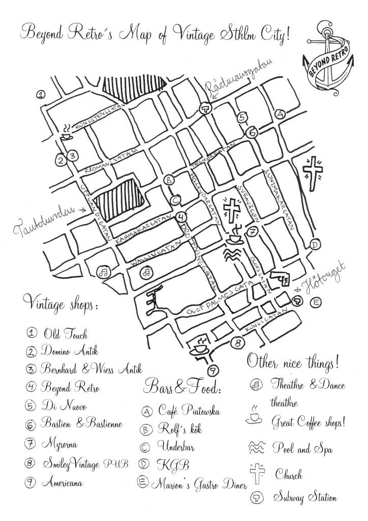 Vintage Map Stockholm City