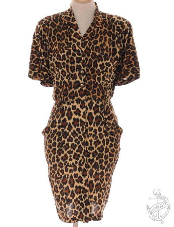 Vintage Short Dress Sandy Brown With Multiple Pockets