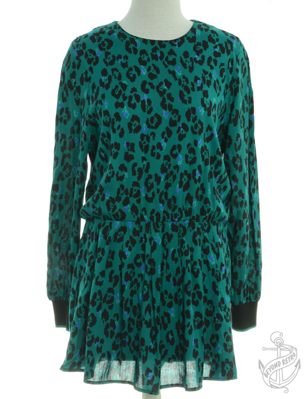 Short Dress Green With Contrasting Trim