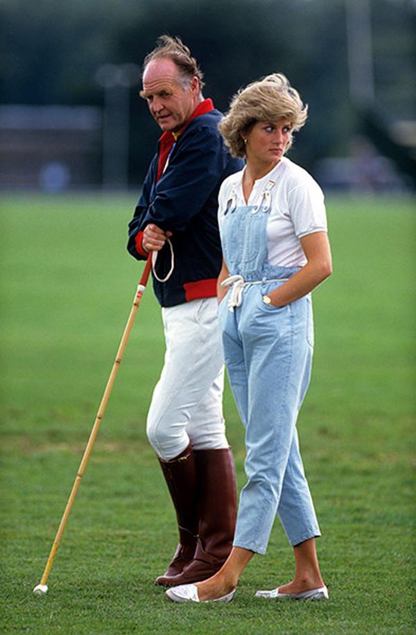 Princess Diana in dungarees