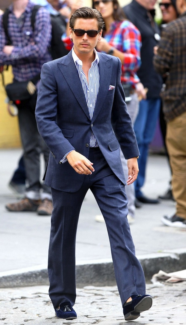 Scott Disick Films in NYC's Meatpacking District
