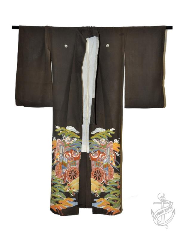 edited black kimono BR