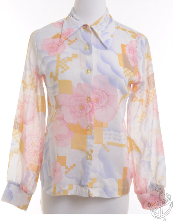 edited pink 70s blouse