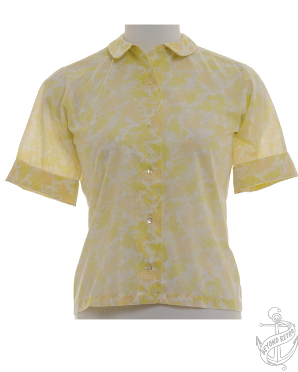 edited yellow 60s blouse