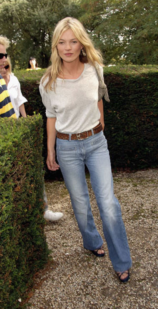 In Kate Moss Flares Her Denim qx8FX0Yw