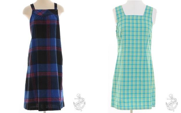 Vintage Strappy Dress: £22; Short Dress: £13