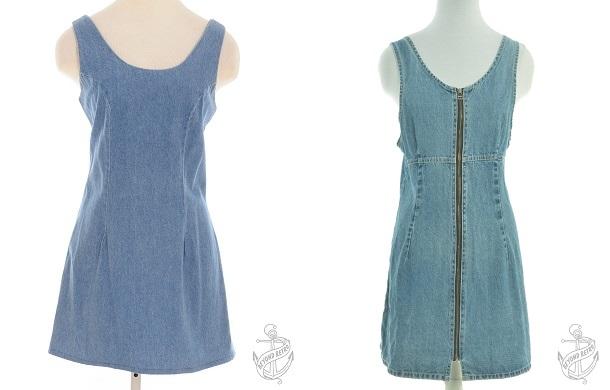 Short Dress Stone Wash: £28; Strappy Dress: £31 - Beyond Retro