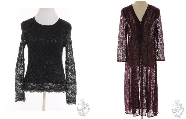 Casual top: £22; Evening coat: £22