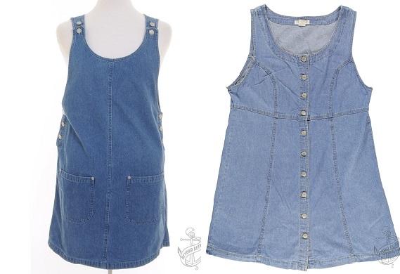 Short Dress: £28; Stone Wash Short Dress: £28