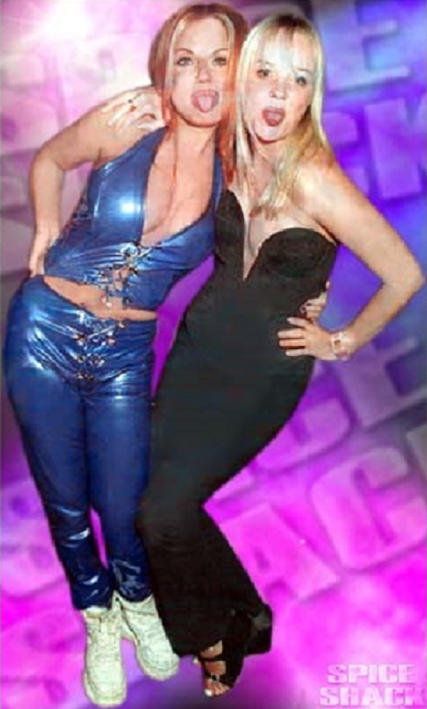 Ginger Spice and Baby Spice out on the town in some daring looks