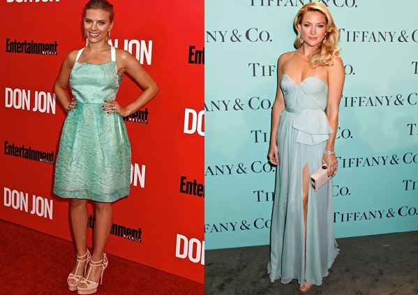 Scarlett Johansson and Kate Hudson looking fresh in this seasons hottest hues
