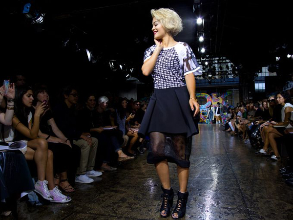 resized rita ora walk for DKNY