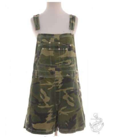 Cropped Dungarees Mixed Palette With Adjustable Straps, £25