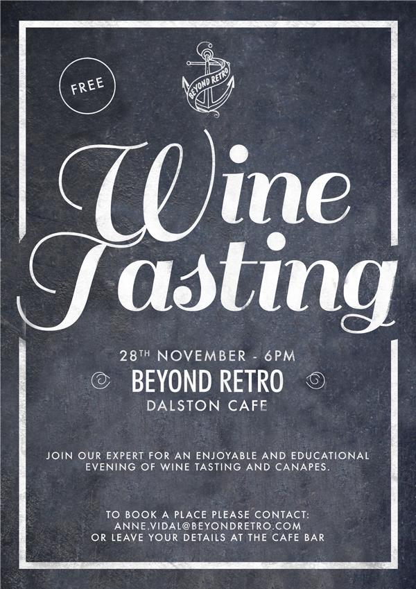 Beyond Retro wine tasting- email