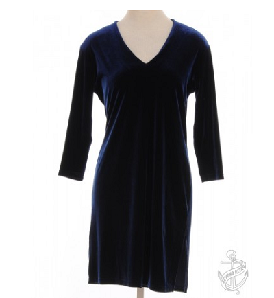 3/4 Length Sleeve Dress Blue With Side Vents £26.00
