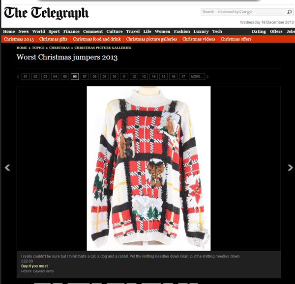 worst xmas jumpers 2013 (telegraph)