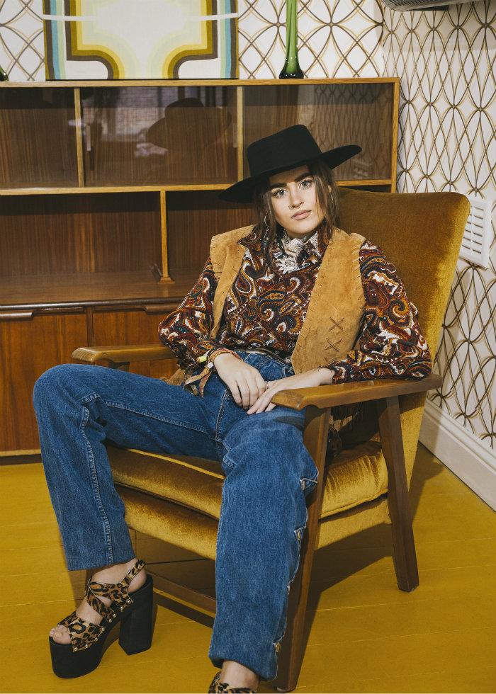 Beyond Retro Vintage Fashion 70s suede