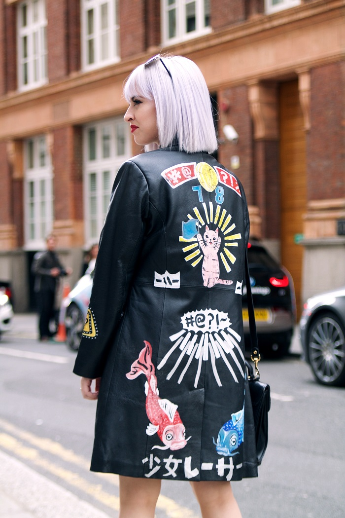 Pictured; We love this street styler's Phiney Pet jacket