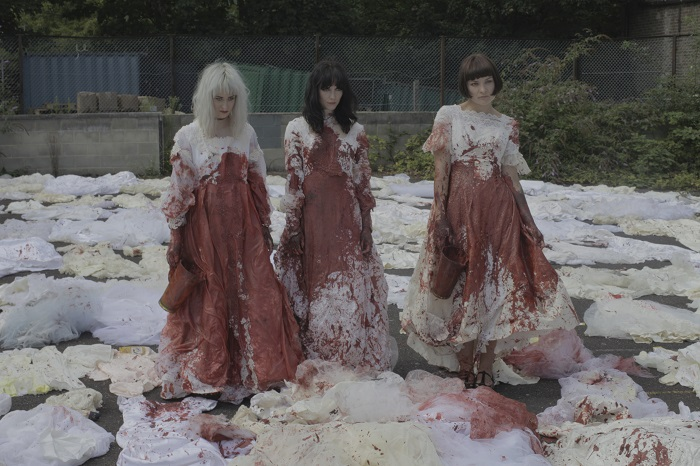 Bloodied wedding dresses