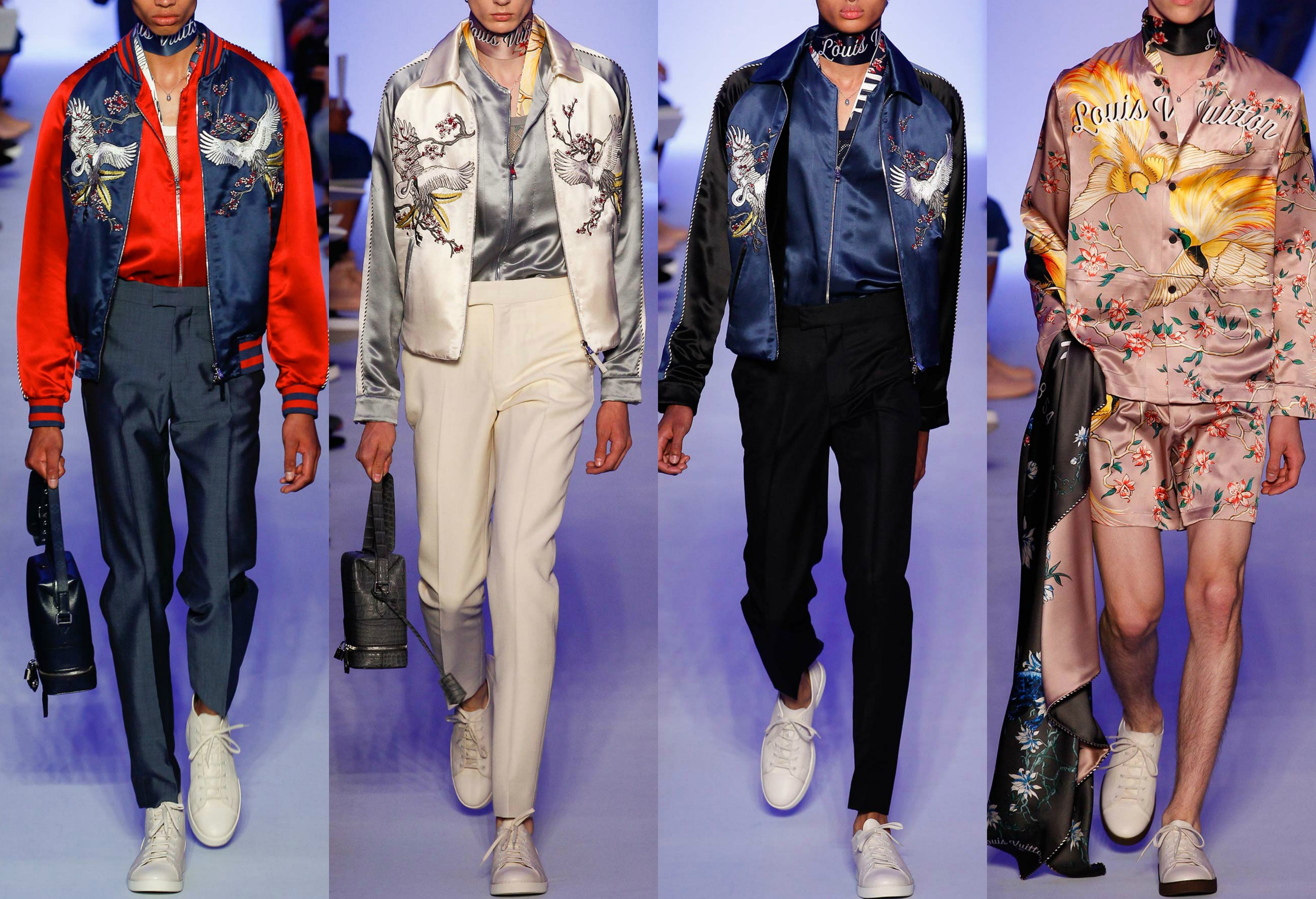 Sukojan Jackets featured heavily in Louis Vuitton's S/S 16 collection