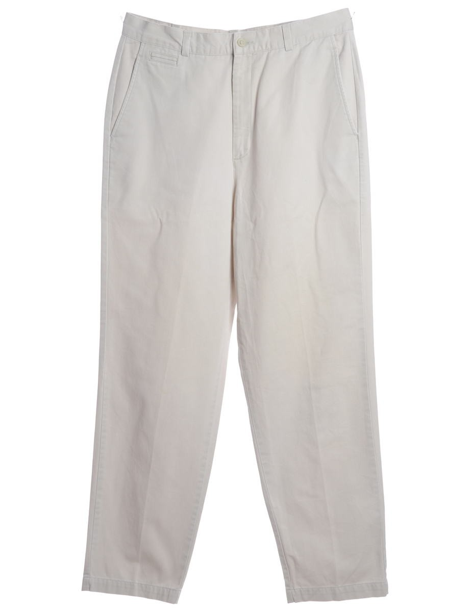 Smart Trousers Ivory With Multiple Pockets - £25.00