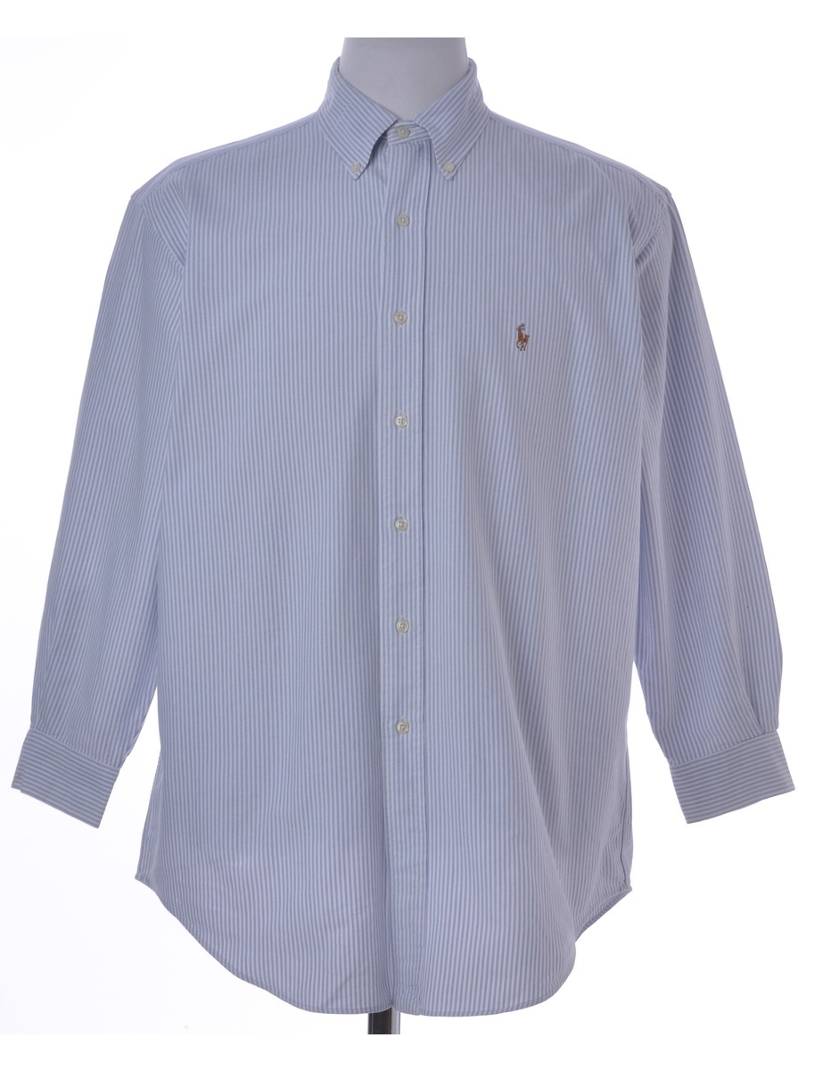 Casual Shirt Light Blue With A Button Down Collar - £28.00