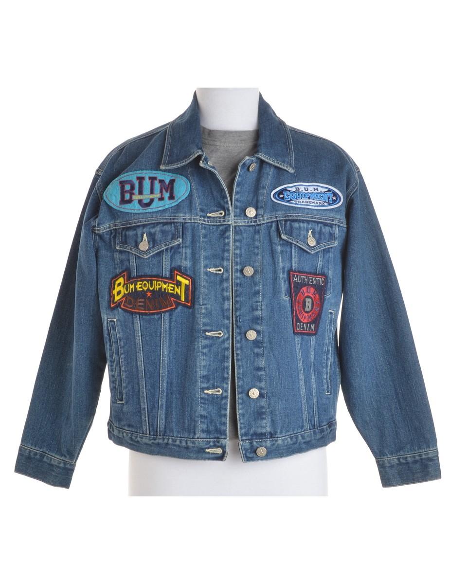 Denim Jacket Indigo With Pockets - £38.00