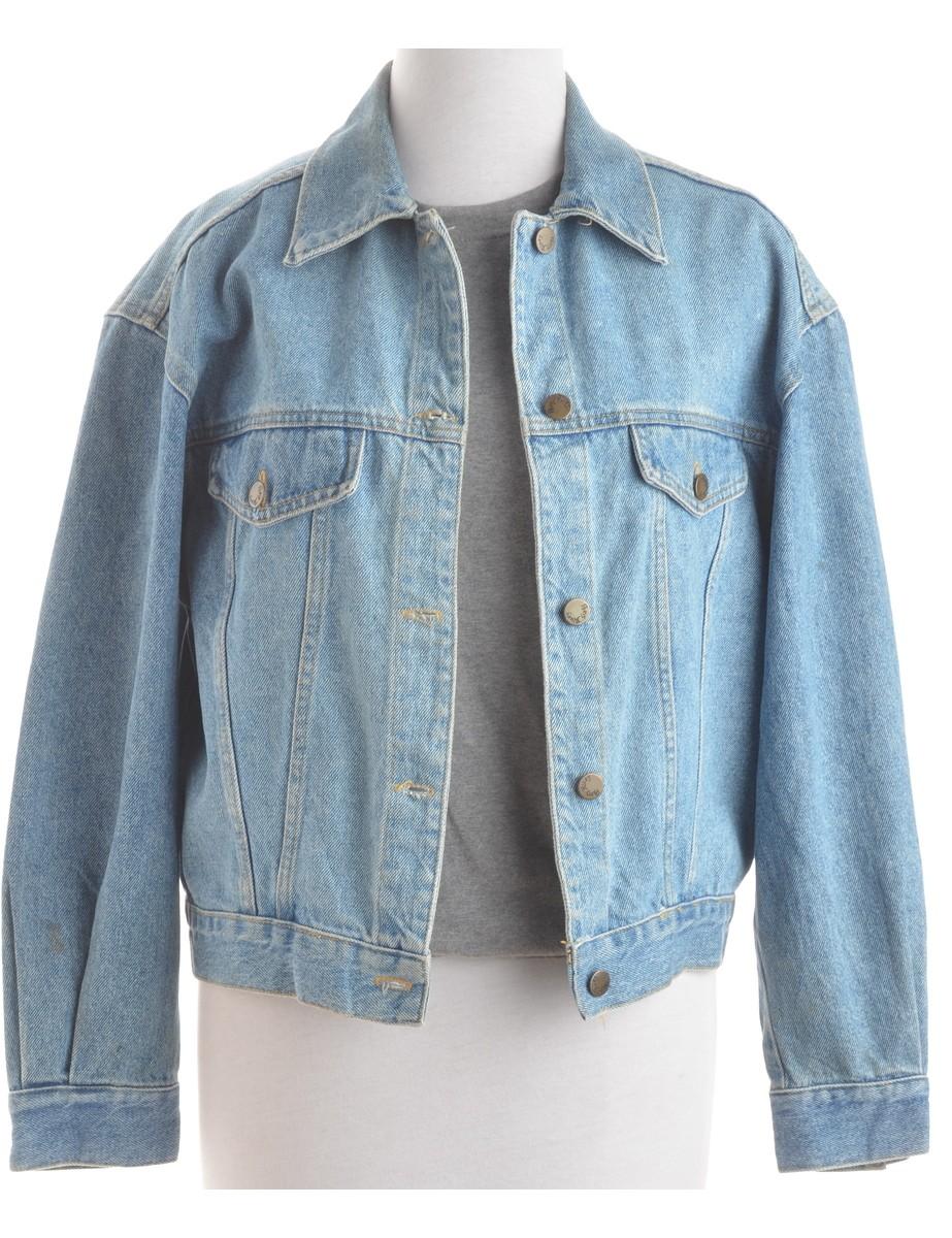 Denim Jacket Stone Wash With Pockets - £38.00