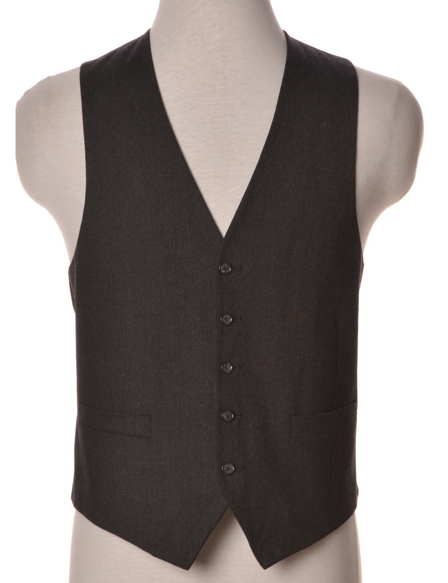 Waistcoat Black With A V-neck - £16.50