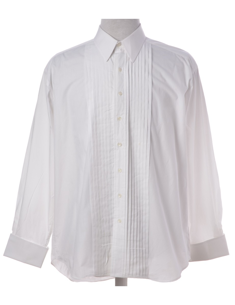 Smart Shirt White With A Pin-tucked Bib Front - £26.00