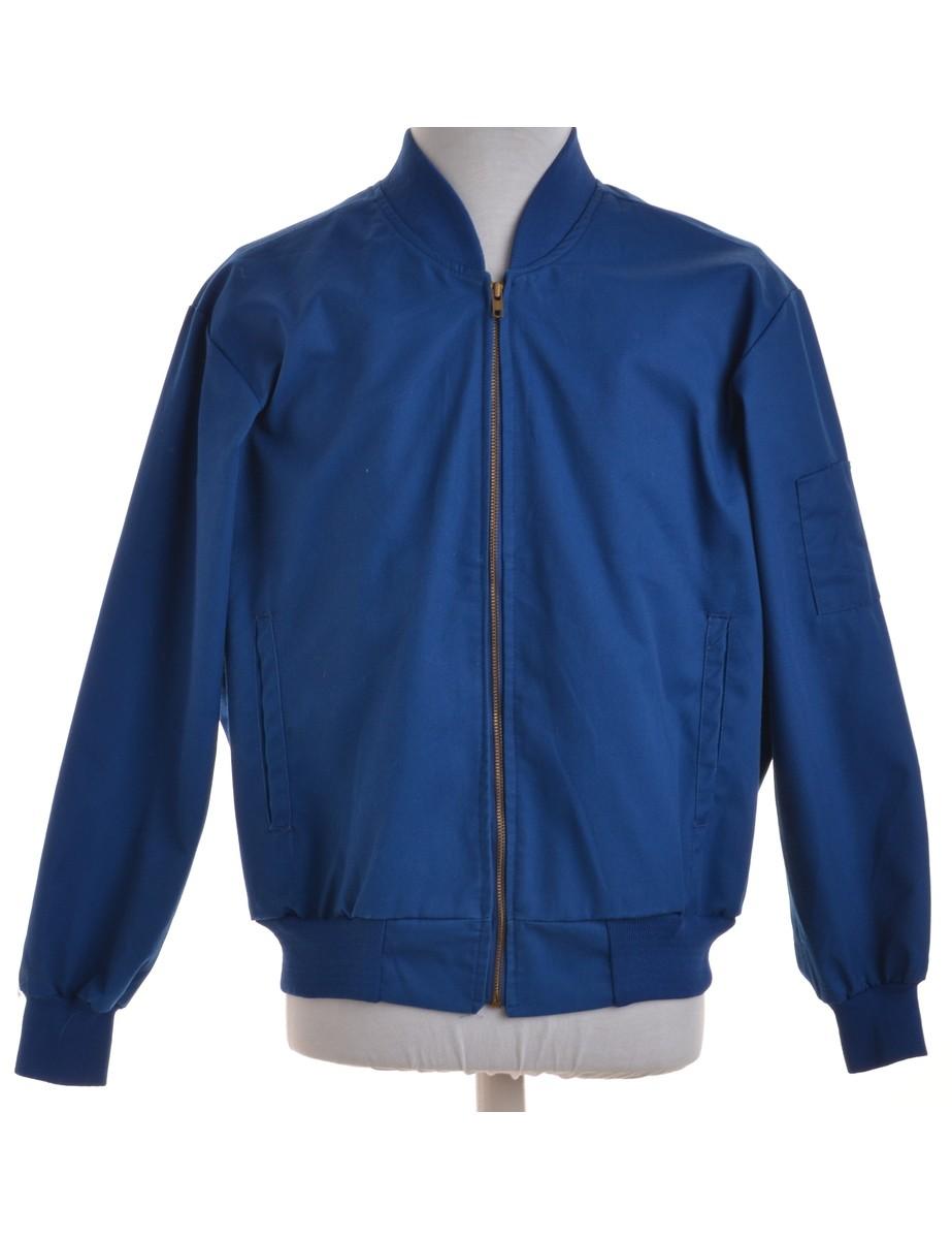 Bomber Jacket Blue With Pockets - £32.00