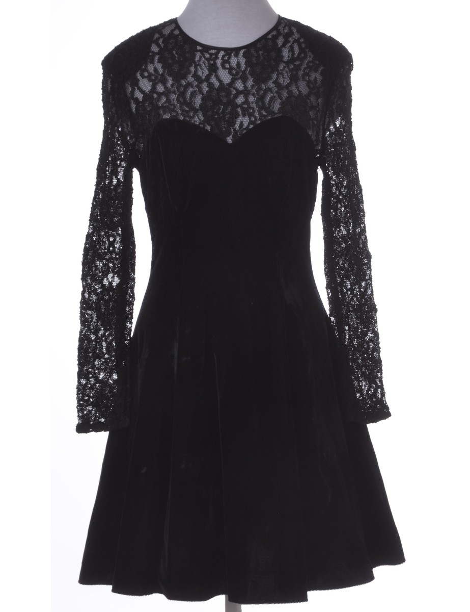 Party Dress Black With Full Lining - £30.00