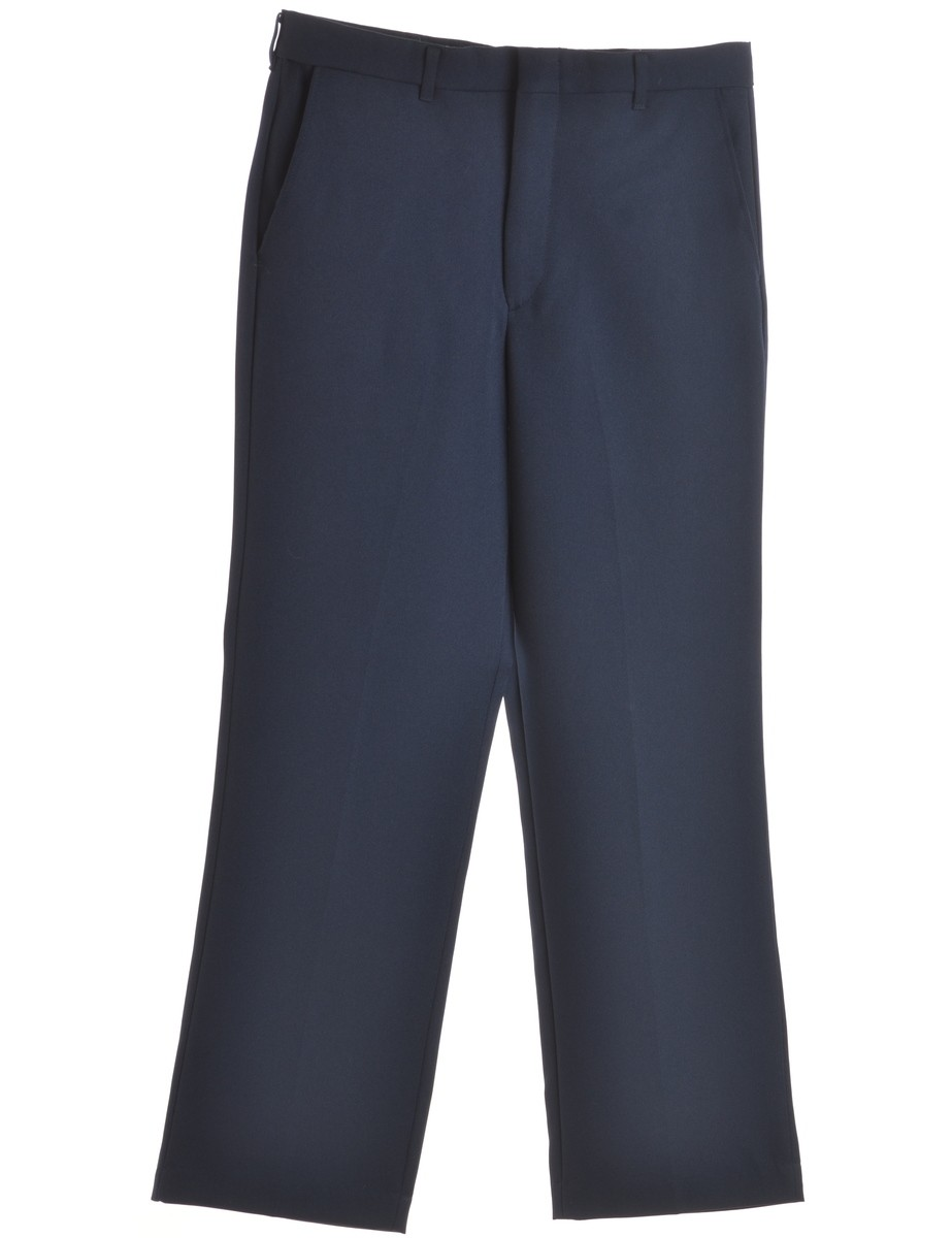 Navy Trousers With Multiple Pockets - £22.00