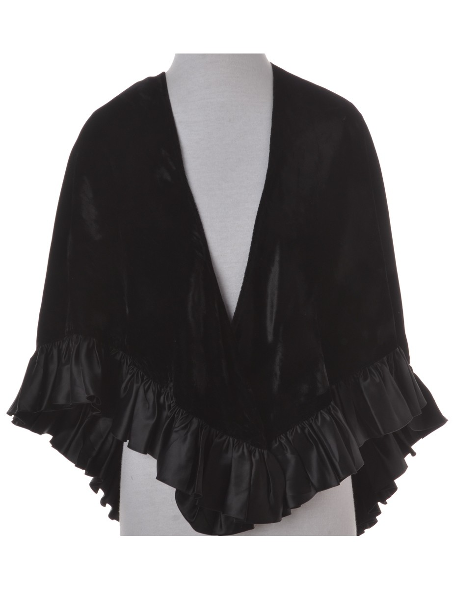 Casual Jacket Black With Frills - £32.00