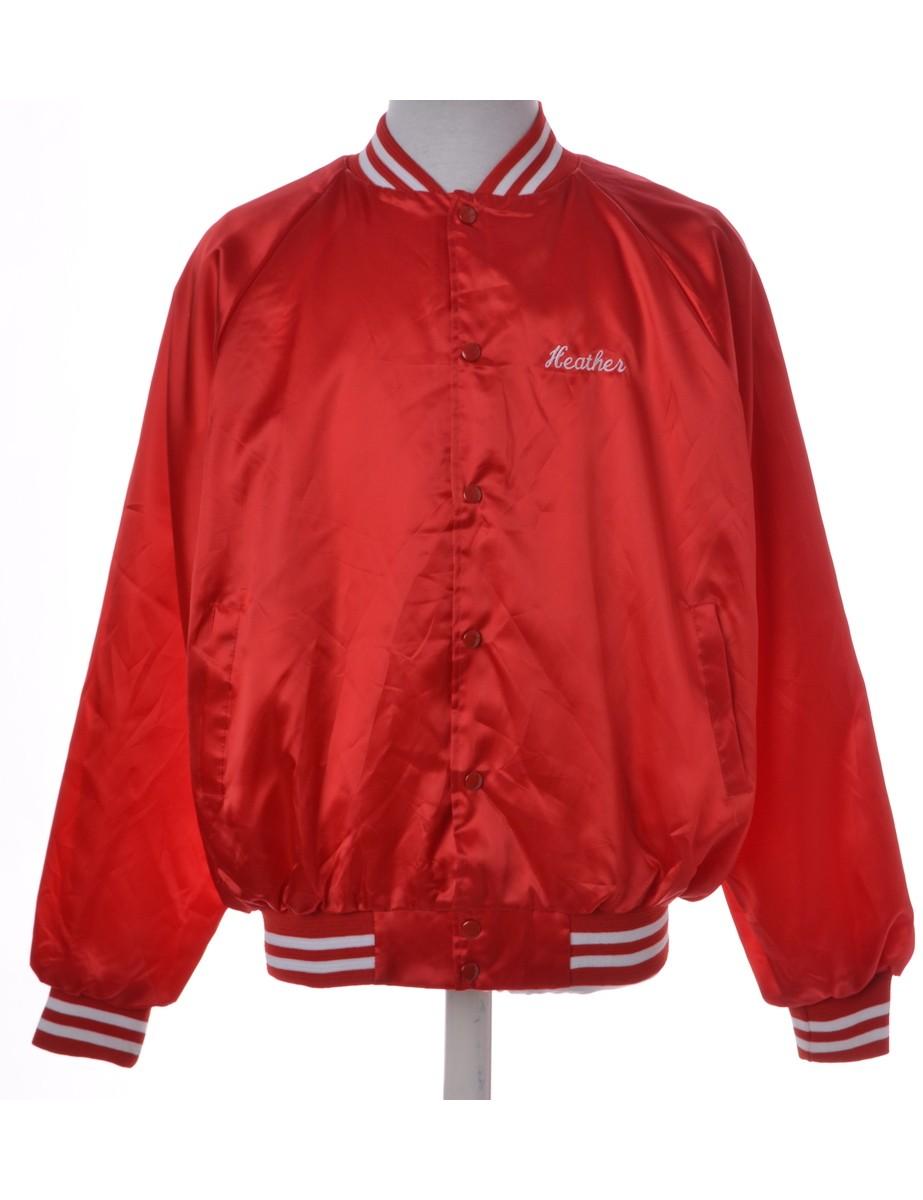 Team Jacket Red With Raglan Sleeves - £30.00
