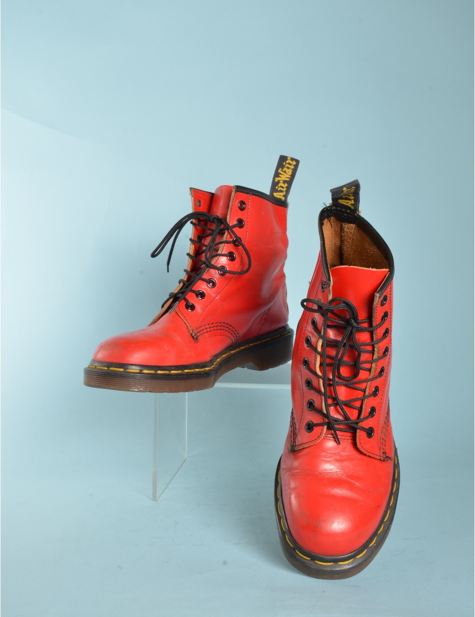 Boots Red With Eyelets - £50.00