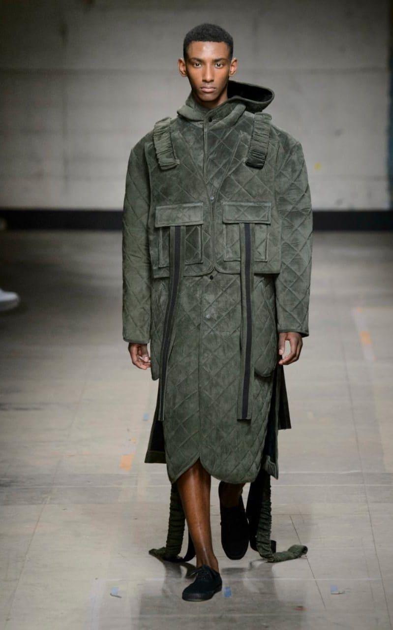 Craig Green (Winner of British Menswear Designer of the year) looks at traditional mariner men uniform.